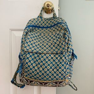 Vera Bradley|Riviera Blue Retired Quilted Backpack